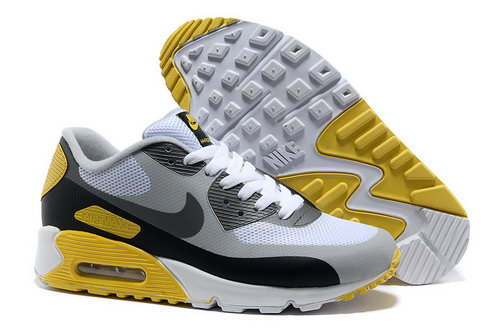 Nike Air Max 90 Hyp Frm Unisex White Yellow Running Shoes Sale
