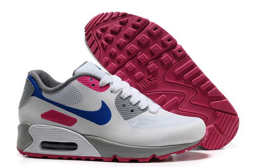 Nike Air Max 90 Hyp Frm Women Gray White Running Shoes Outlet Store