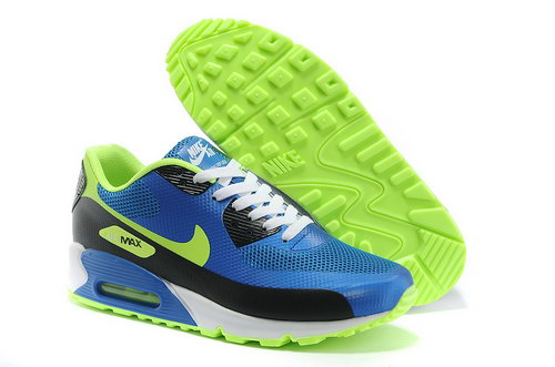 Nike Air Max 90 Hyp Prm Men Blue Green Running Shoes Low Cost