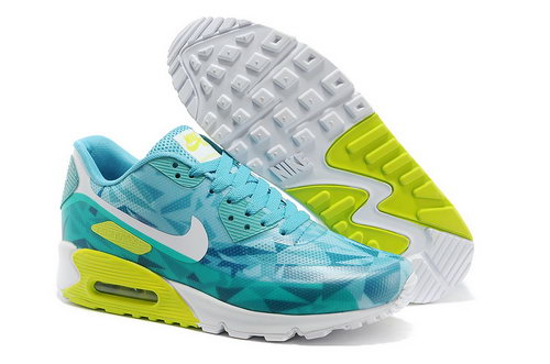 Nike Air Max 90 Hyp Prm Unisex Blue Green Jogging Shoes Promo Code