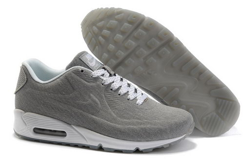 Nike Air Max 90 Hyp Prm Unisex Gray White Running Shoes Korea