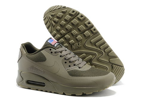 Nike Air Max 90 Hyp Qs Men All Brown Running Shoes Wholesale