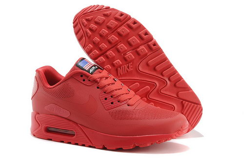 Nike Air Max 90 Hyp Qs Unisex All Red Sneakers Discount