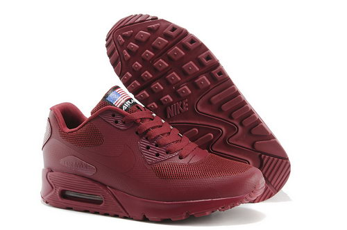 Nike Air Max 90 Hyp Qs Women All Winered Sports Shoes Factory Store