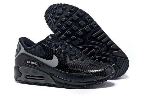 Nike Air Max 90 Hyperfuse Men Black Gray Running Shoes Korea