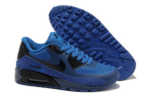 Nike Air Max 90 Hyperfuse Men Blue Black Running Shoes Netherlands