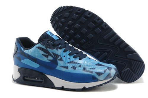 Nike Air Max 90 Hyperfuse Prm 2014 25 Anniversary Mens Shoes Deep Blue Discount Code