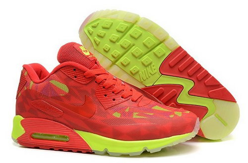 Nike Air Max 90 Hyperfuse Prm 2014 25 Anniversary Mens Shoes Red Green New