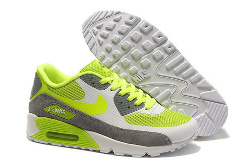 Nike Air Max 90 Hyperfuse Unisex Green Gray Running Shoes Reduced