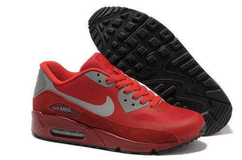 Nike Air Max 90 Hyperfuse Unisex Red Gray Running Shoes Taiwan