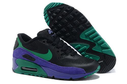 Nike Air Max 90 Hyperfuse Women Purple Green Running Shoes France