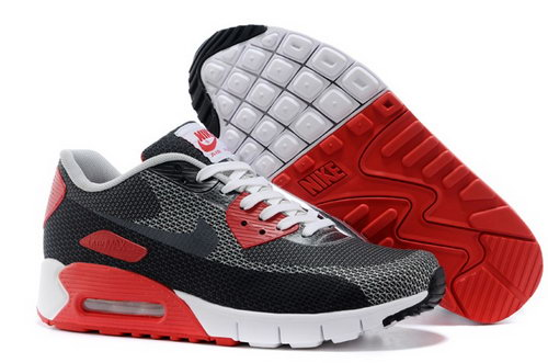 Nike Air Max 90 Jacquard Mens Shoes Gray Black Red White New Coupon Code