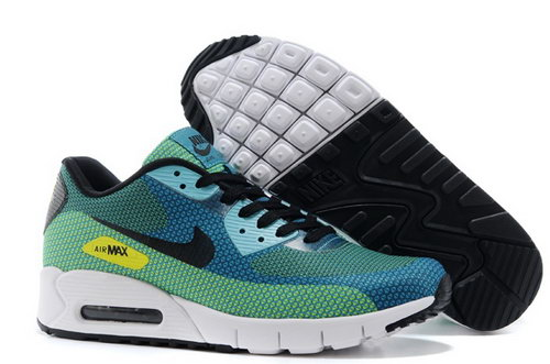 Nike Air Max 90 Jacquard Mens Shoes Green Black New Wholesale
