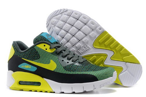 Nike Air Max 90 Jacquard Mens Shoes Green Black Yellow New Switzerland