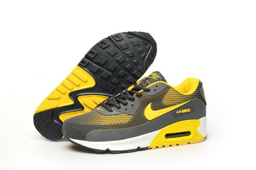 Nike Air Max 90 Kpu Tpu Mens Shoes Brown Yellow Hot Discount