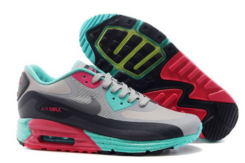 Nike Air Max 90 Lunar 3.0 Mens Shoes Light Gray Black Green Red Special Coupon