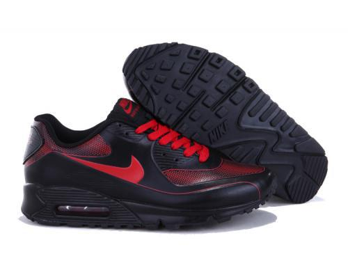 Nike Air Max 90 Men Black Red Running Shoes Hong Kong