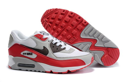 Nike Air Max 90 Mens Grey Red White Wholesale
