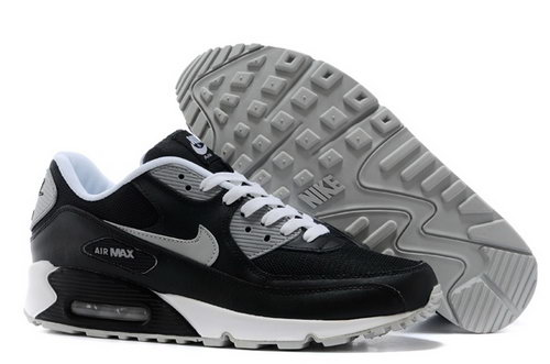Nike Air Max 90 Mens Shoes Black Silver New Low Cost