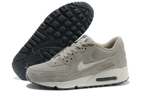 Nike Air Max 90 Mens Shoes Fur Gray White Hot Hot Hong Kong