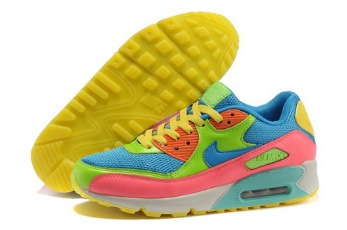 Nike Air Max 90 Mens Shoes Green Pink Norway