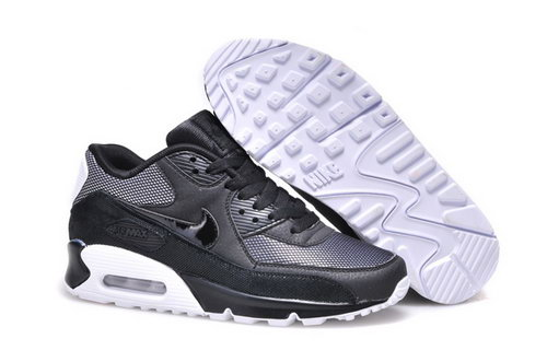 Nike Air Max 90 Mens Shoes Hot Black Silver White Germany