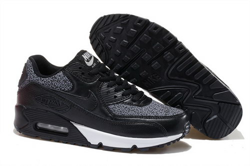 Nike Air Max 90 Mens Shoes Hot Black White Factory Outlet