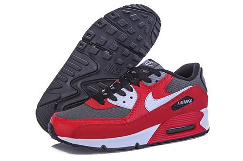 Nike Air Max 90 Mens Shoes Hot Red Gray White Uk