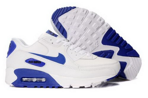 Nike Air Max 90 Mens Shoes White Royal Factory Store