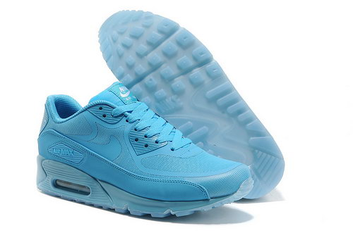 Nike Air Max 90 Prem Tape Unisex All Blue Running Shoes Czech