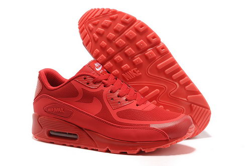 Nike Air Max 90 Prem Tape Unisex All Red Running Shoes Sale