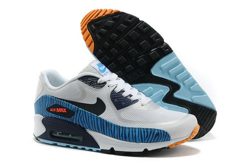Nike Air Max 90 Prem Tape Unisex White Blue Running Shoes Online Store