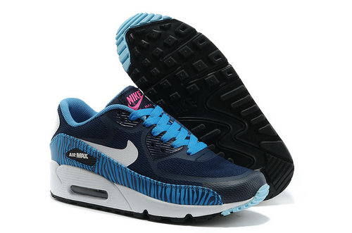 Nike Air Max 90 Prem Tape Women Black Blue Runnig Shoes Outlet