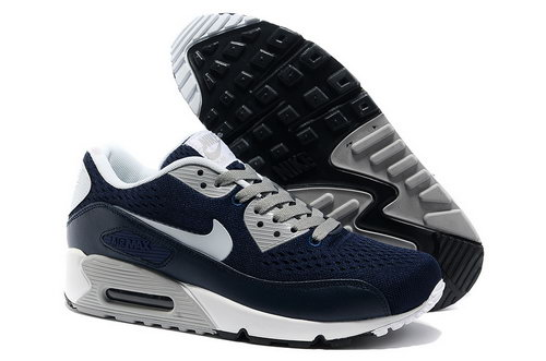 Nike Air Max 90 Premium Em Men Blue White Running Shoes Usa