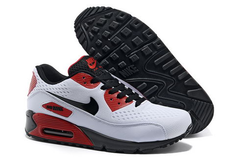 Nike Air Max 90 Premium Em Men Red White Running Shoes Clearance