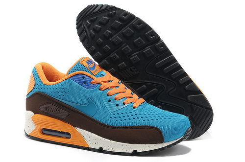 Nike Air Max 90 Premium Em Unisex Blue Orange Running Shoes