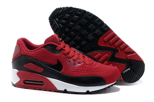 Nike Air Max 90 Premium Em Unisex Red Black Running Shoes Cheap