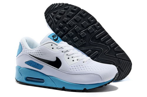 Nike Air Max 90 Premium Em Unisex White Blue Running Shoes Discount Code