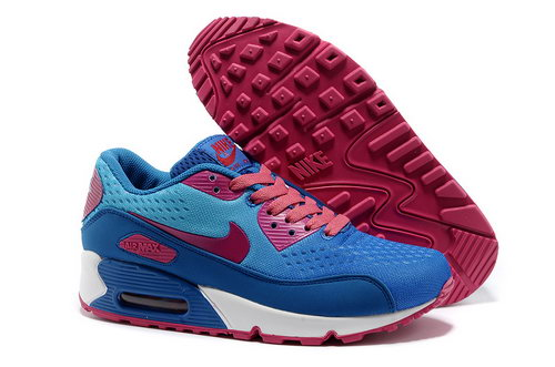 Nike Air Max 90 Premium Em Women Blue Pink Running Shoes Online