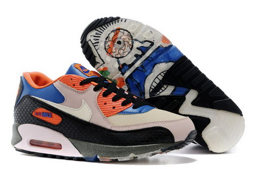Nike Air Max 90 Premium Mowabb King Of The Mountain Mens Shoes Gray Black Orange Discount
