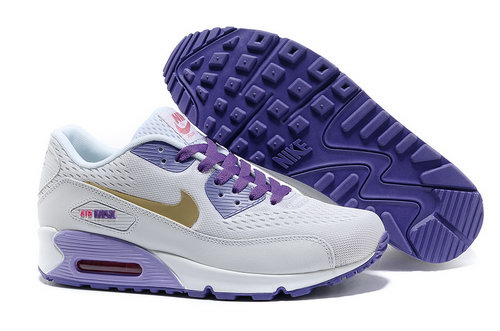 Nike Air Max 90 Prm Em Women White And Purple Casual Shoes Wholesale