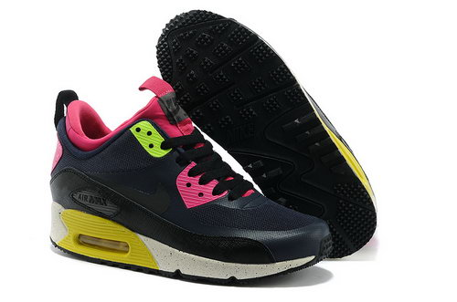 Nike Air Max 90 Sneakerboot Ns Women Black Pink Running Sports Shoes Spain