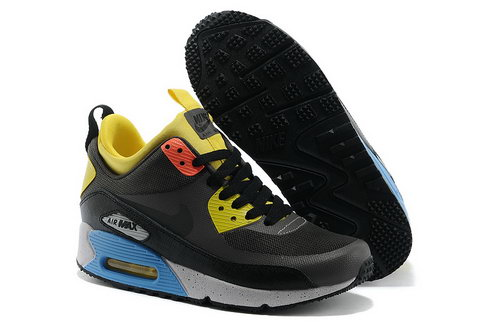 Nike Air Max 90 Sneakerboot Ns Women Gray Yellow Running Sports Shoes Germany