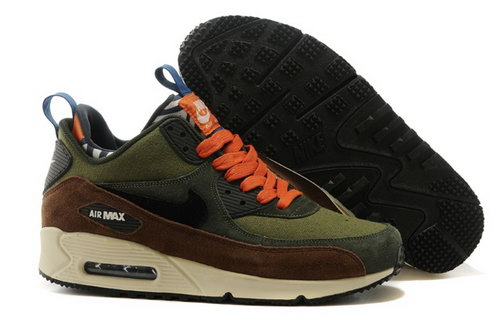 Nike Air Max 90 Sneakerboots Prm Undeafted Mens Shoes Black Brown Mago Olive Green Special Online Shop