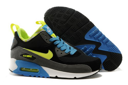 Nike Air Max 90 Sneakerboots Prm Undeafted Mens Shoes Black Gray Yellow Blue Special Spain