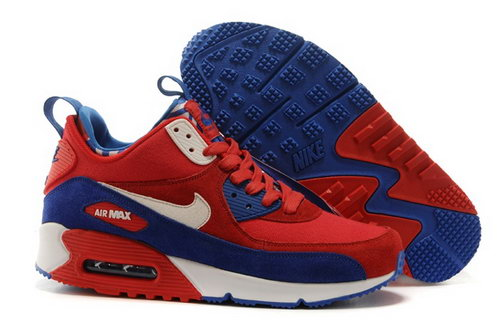 Nike Air Max 90 Sneakerboots Prm Undeafted Mens Shoes Red Blue White Special Factory