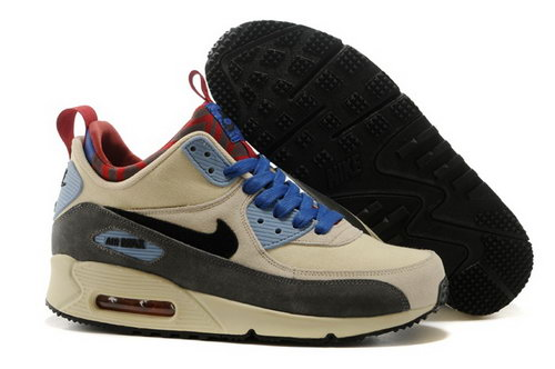 Nike Air Max 90 Sneakerboots Prm Undeafted Mens Shoes Rice White Brown Blue Special Low Price