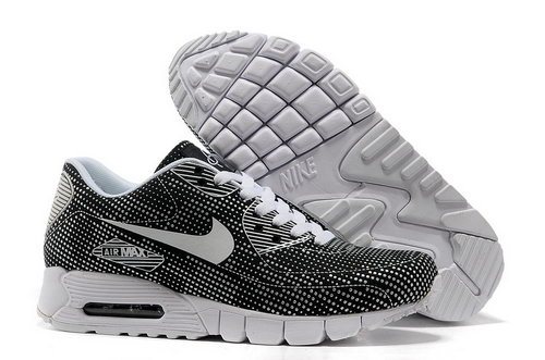 Nike Air Max 90 Unisex Black White Running Shoes Factory Outlet