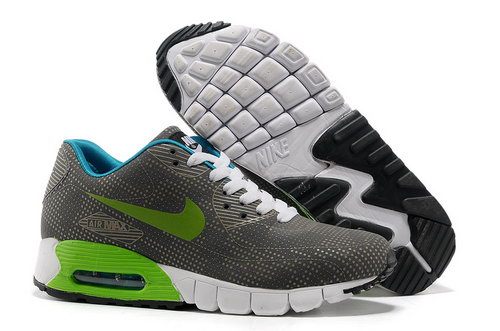 Nike Air Max 90 Unisex Gray Green Running Shoes Factory