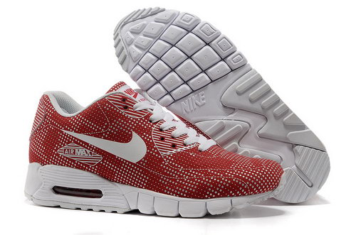 Nike Air Max 90 Unisex Red White Running Shoes Low Price